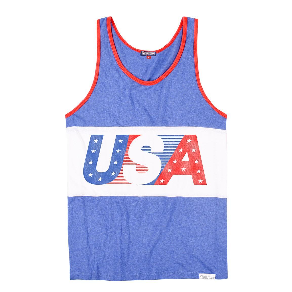 USA Blue Men's Tank Top