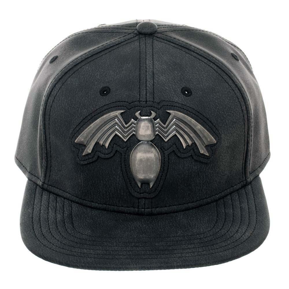 Venom Distressed Metal Black Snapback Hat