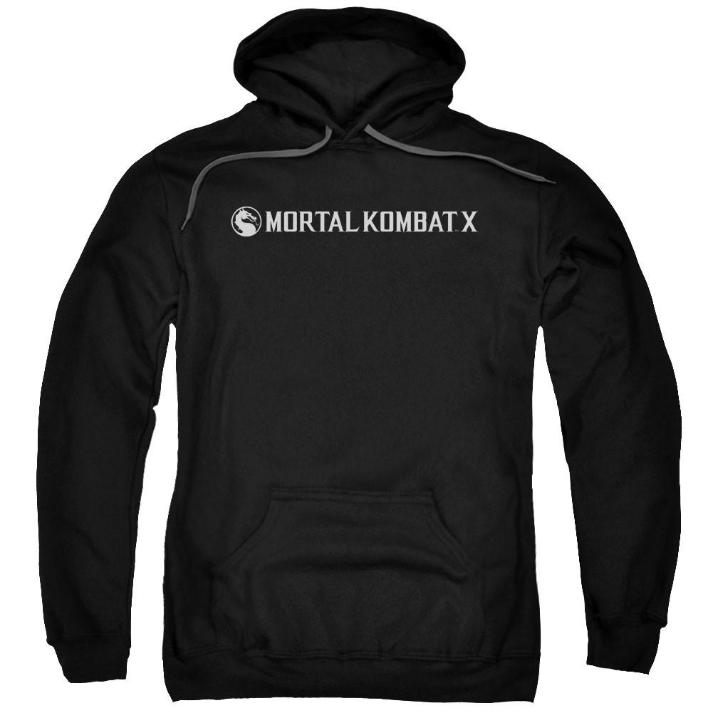 Mortal Kombat X Horizontal Logo Black Pullover Hoodie