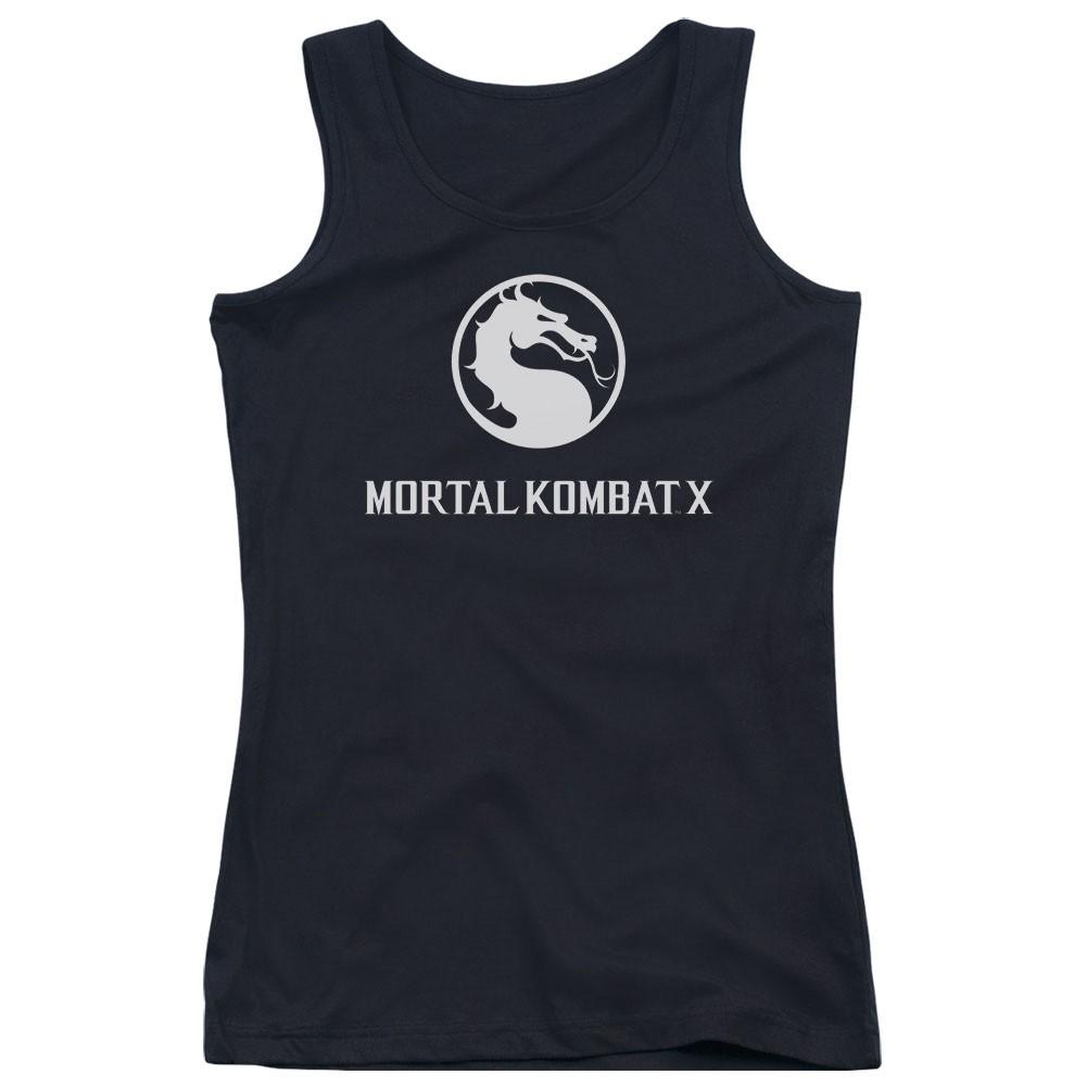 Mortal Kombat X Dragon Logo Black Juniors Tank Top