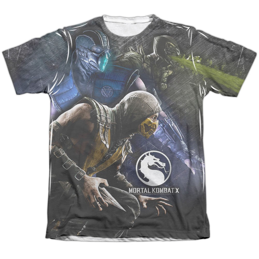 970a3cf890d Mortal Kombat X Three Of A Kind White Sublimation T-Shirt