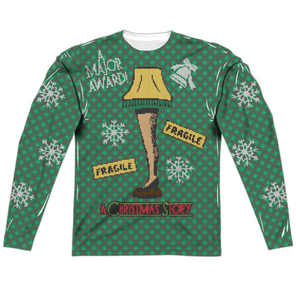 A Christmas Story Faux Ugly Sweater Long Sleeve Tshirt