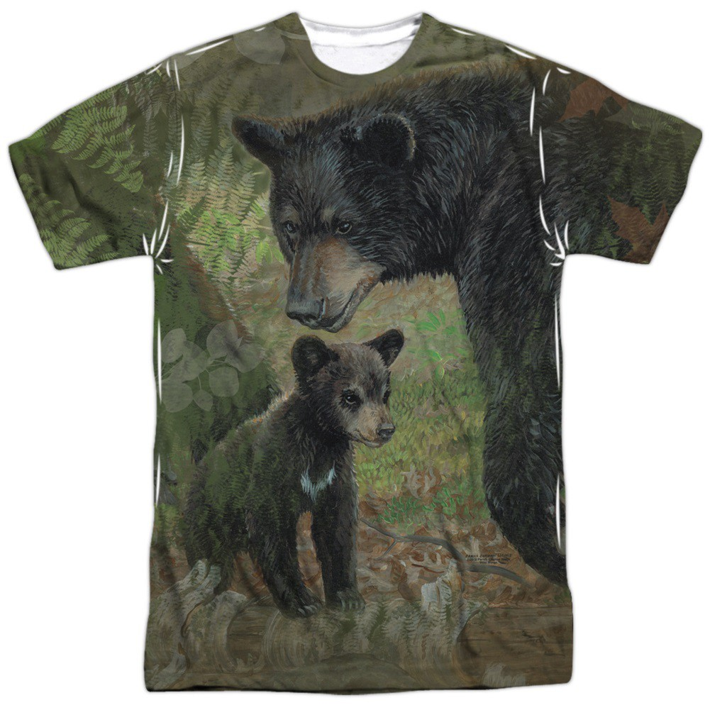 Black Bears Hunting and Fishing Two Sided Shirt