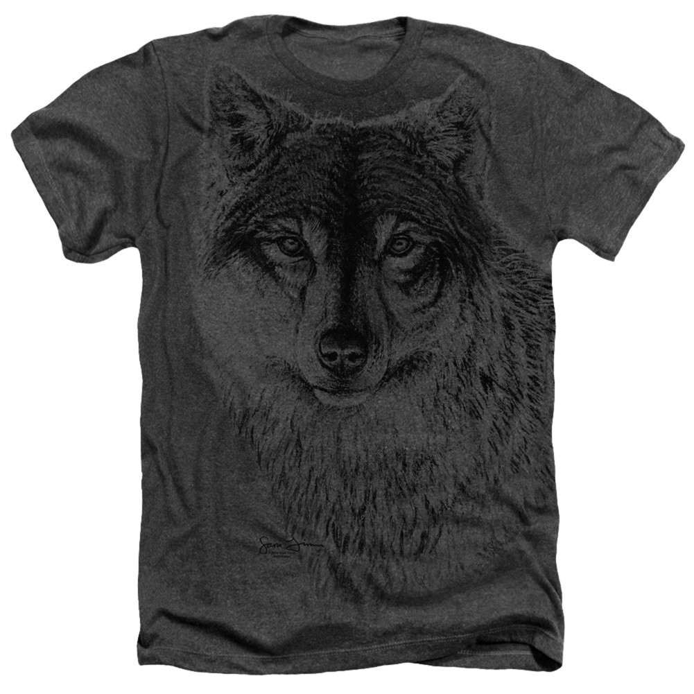 Wolf Face Hunting and Fishing Tshirt