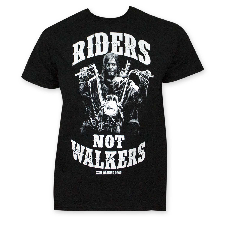 Walking Dead Men's Black Riders Not Walkers Tee Shirt