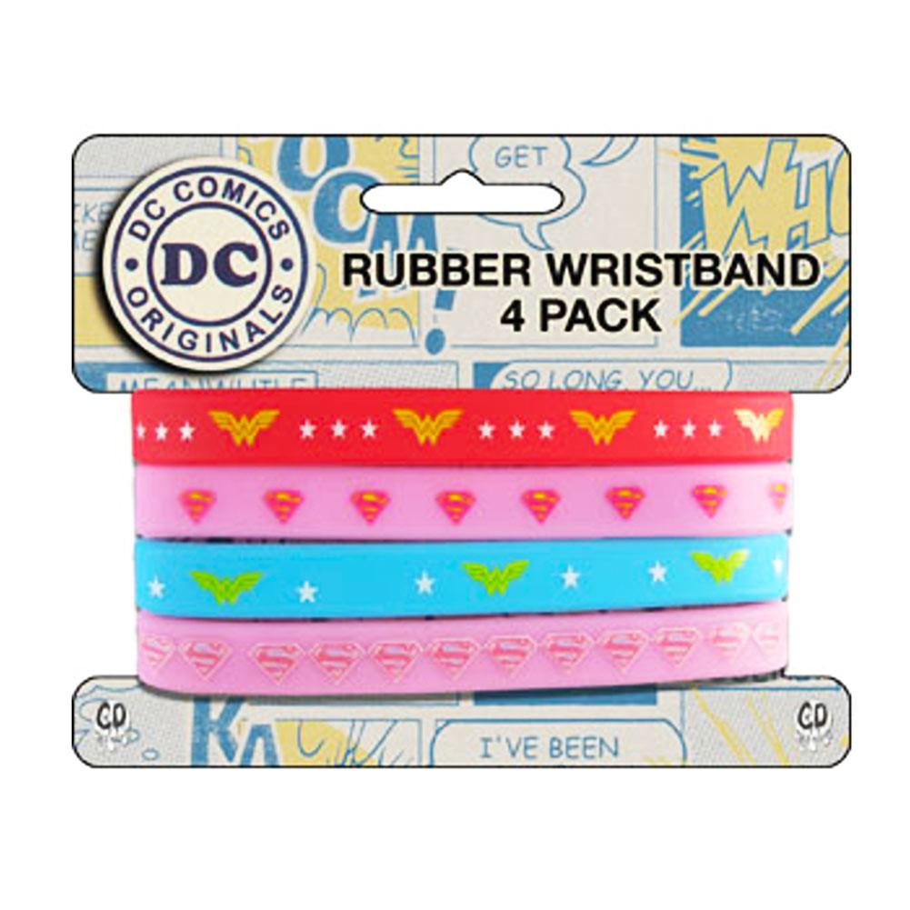 Wonder Woman 4 Piece Rubber Bracelet Set