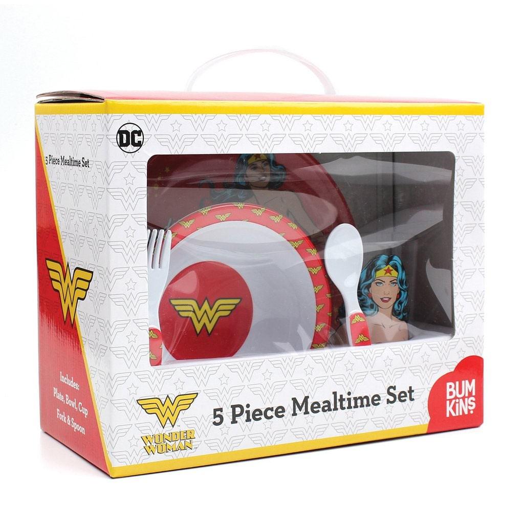 Wonder Woman Melamine Mealtime 5 Piece Set
