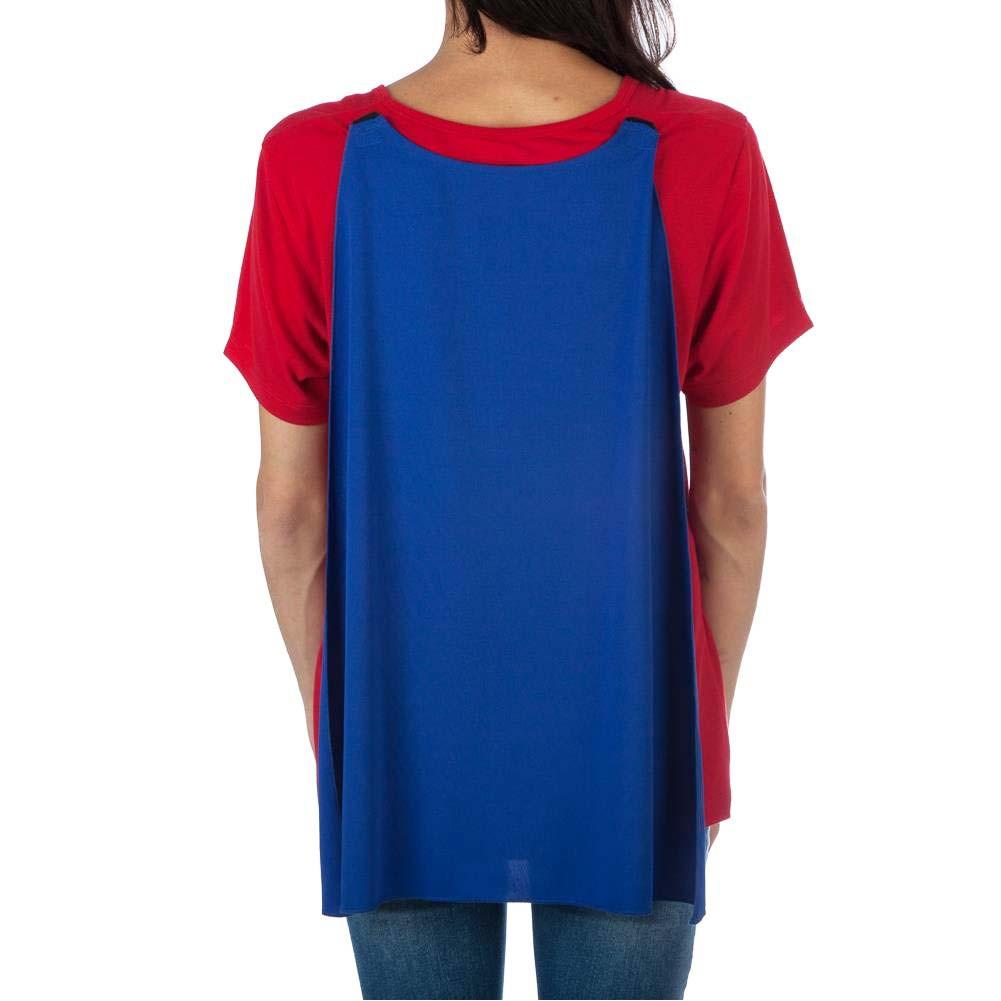 Wonder Woman Women's Interchangeable Cape Costume Tee Shirt