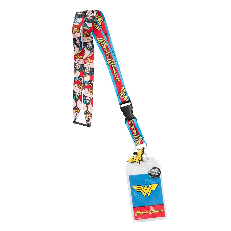 Wonder Woman Comic Keychain Lanyard