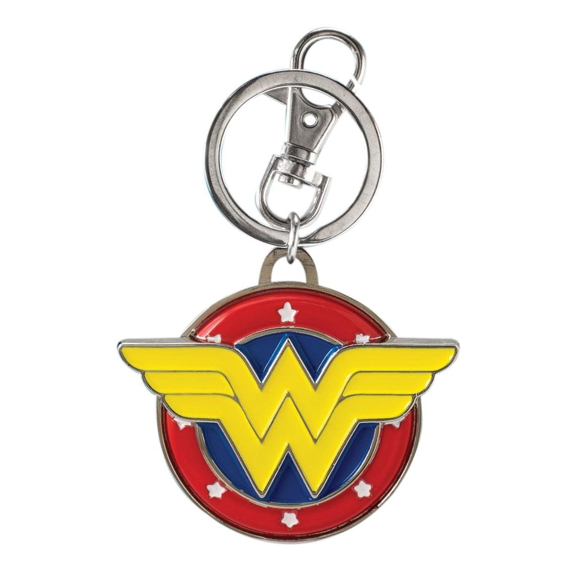Wonder Women Metal Color Logo Keychain