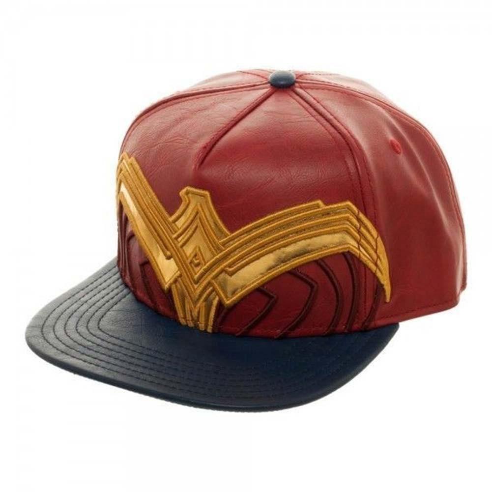 Wonder Woman Pleather Snapback Hat