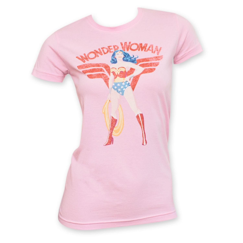 Wonder Woman Pink Junior's Pose Tee Shirt