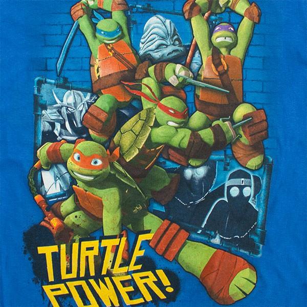 """TMNT """"Turtle Power"""" Boys 8-20 Shirt - Royal Blue"""