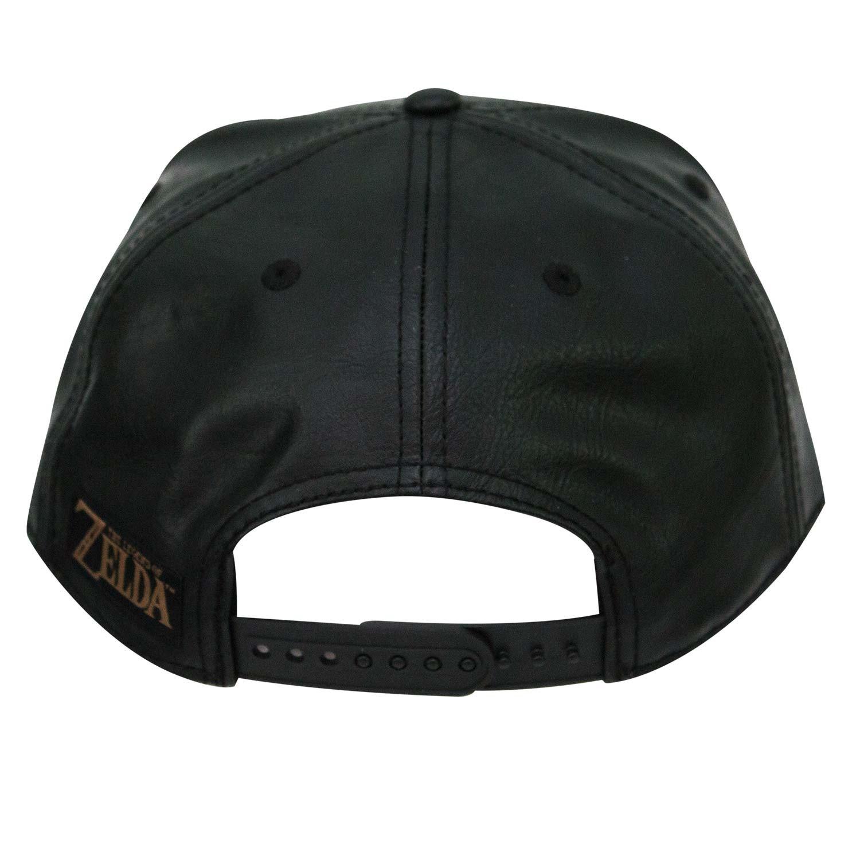 The Legend Of Zelda Metal Shield Faux Leather Snapback Hat