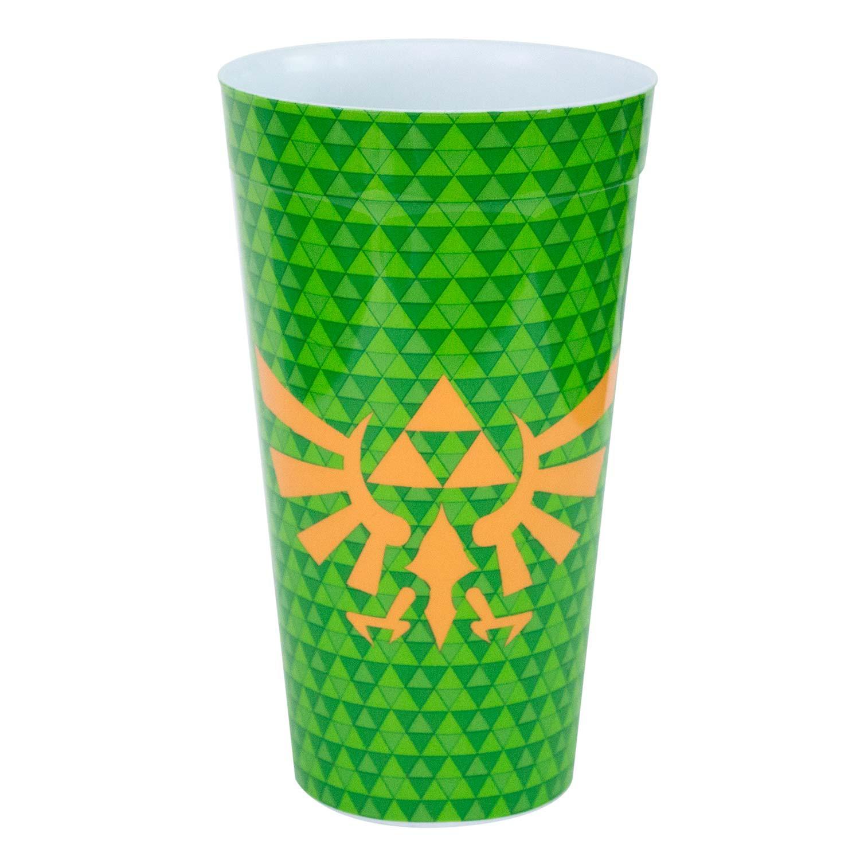 The Legend Of Zelda Triforce Green Plastic Pint Glass