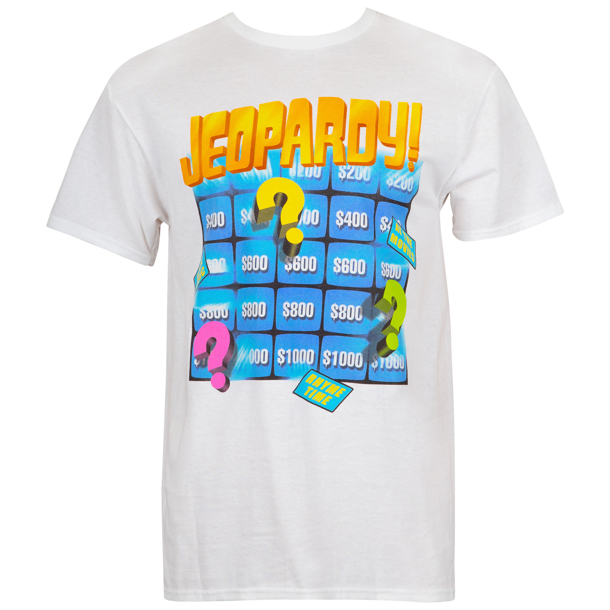 Jeopardy Board White Men's Tee Shirt