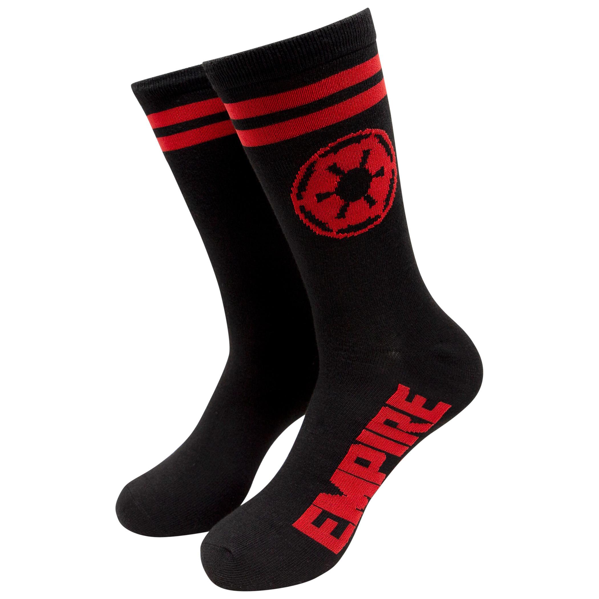 Star Wars Empire Red Symbol Crew Socks