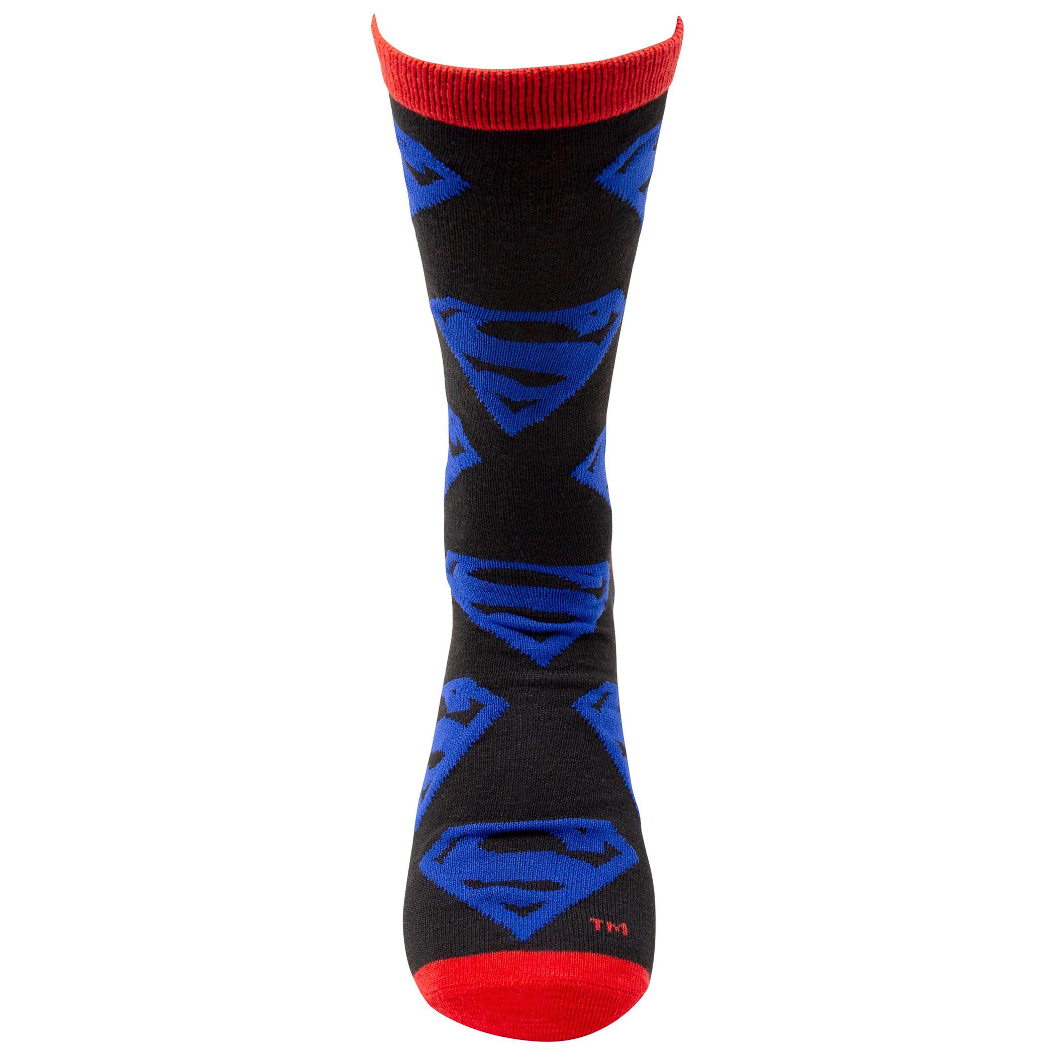 Superman Man of Tomorrow Crew Socks 2-Pack
