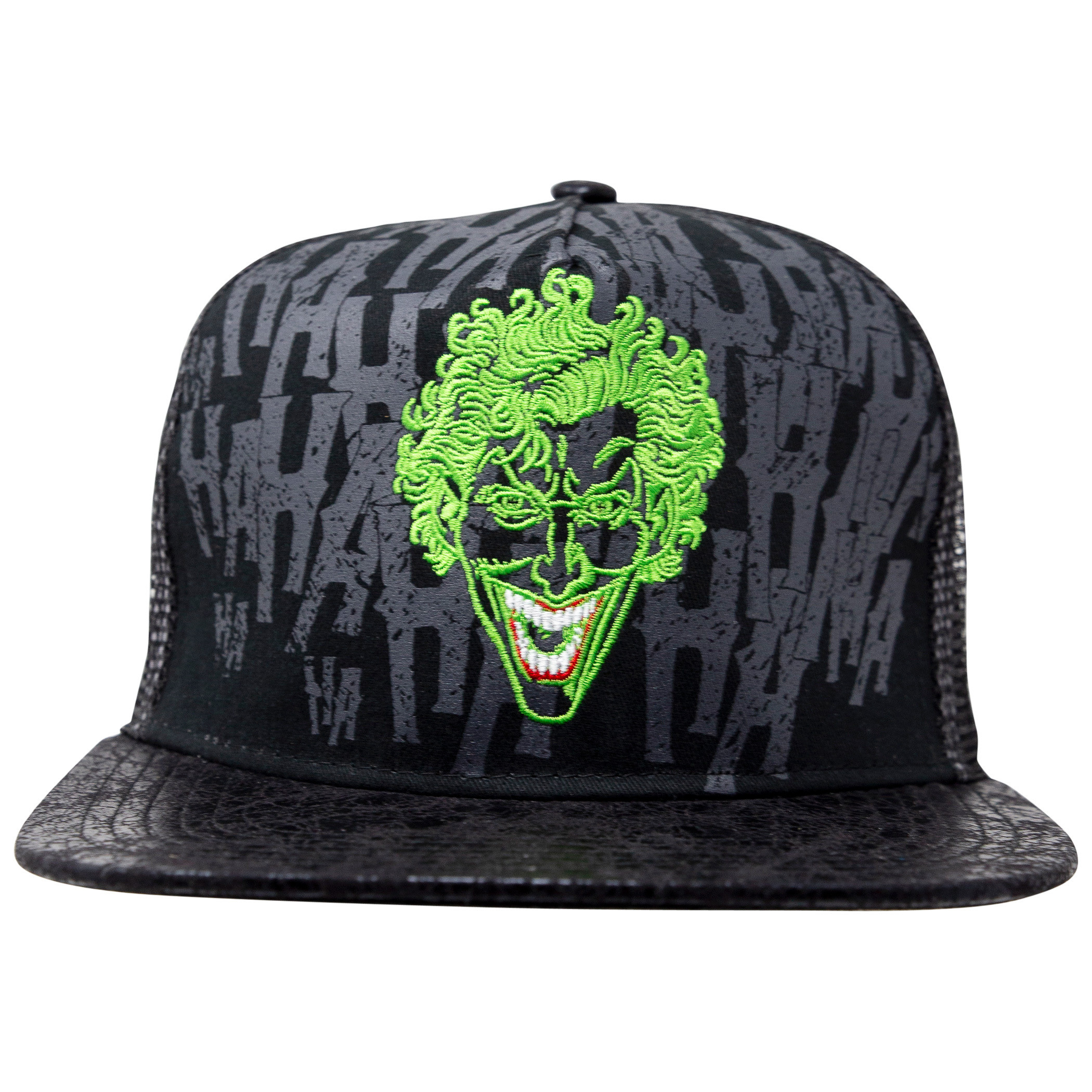 The Joker DC Comics Flat Bill Adjustable Black Snapback Hat