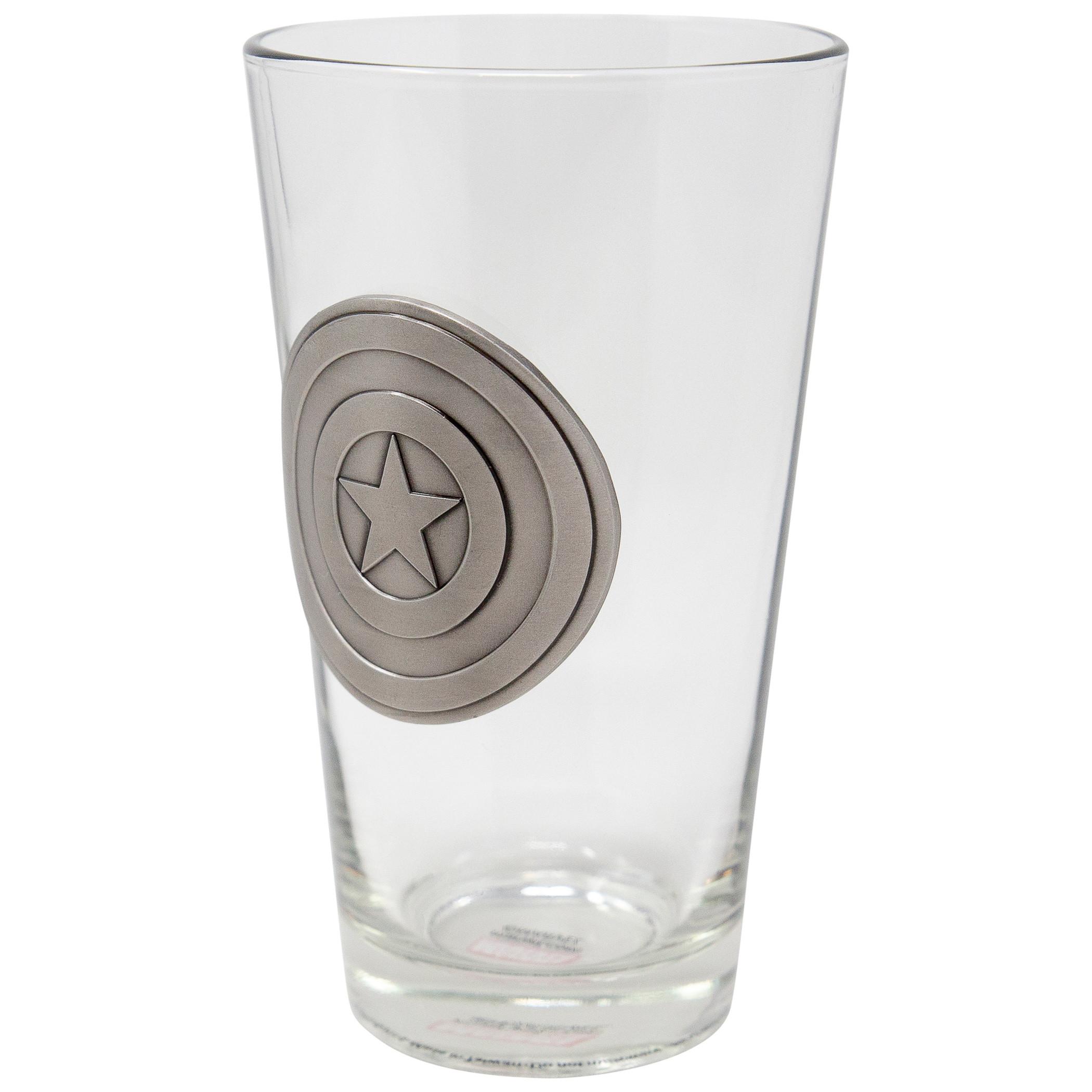 Captain America Shield Medallion Glass