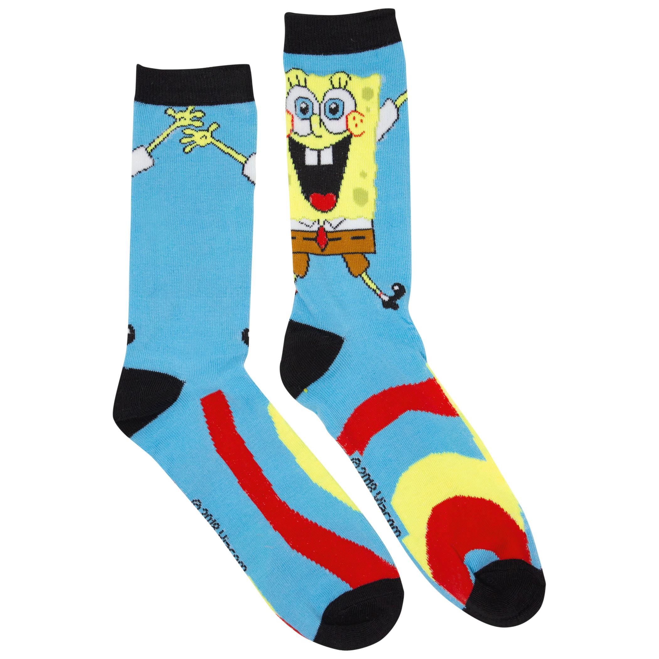 SpongeBob SquarePants 2-Pair Pack Crew Socks