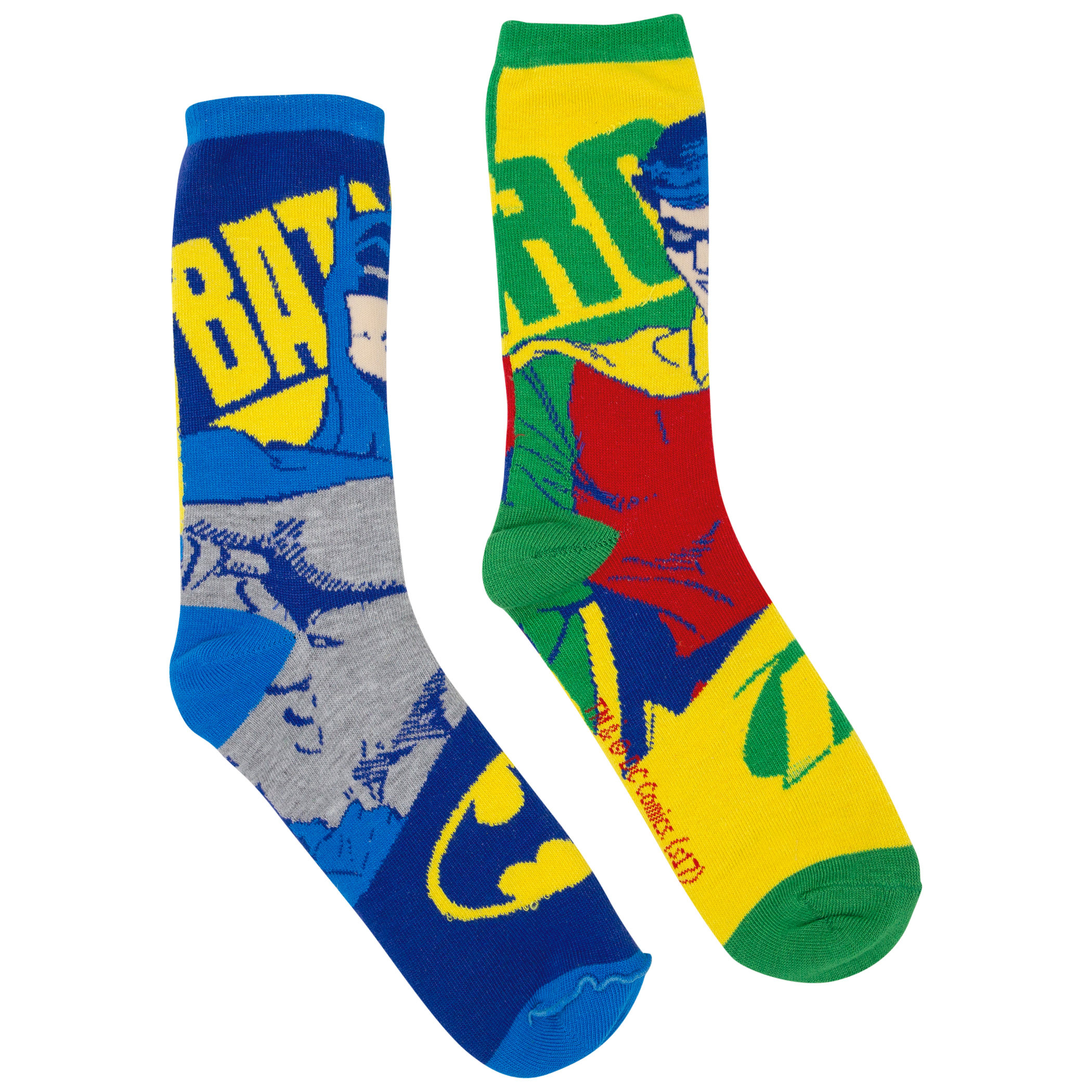 DC Comics Dark Knight Batman/Robin Reversible Crew Socks