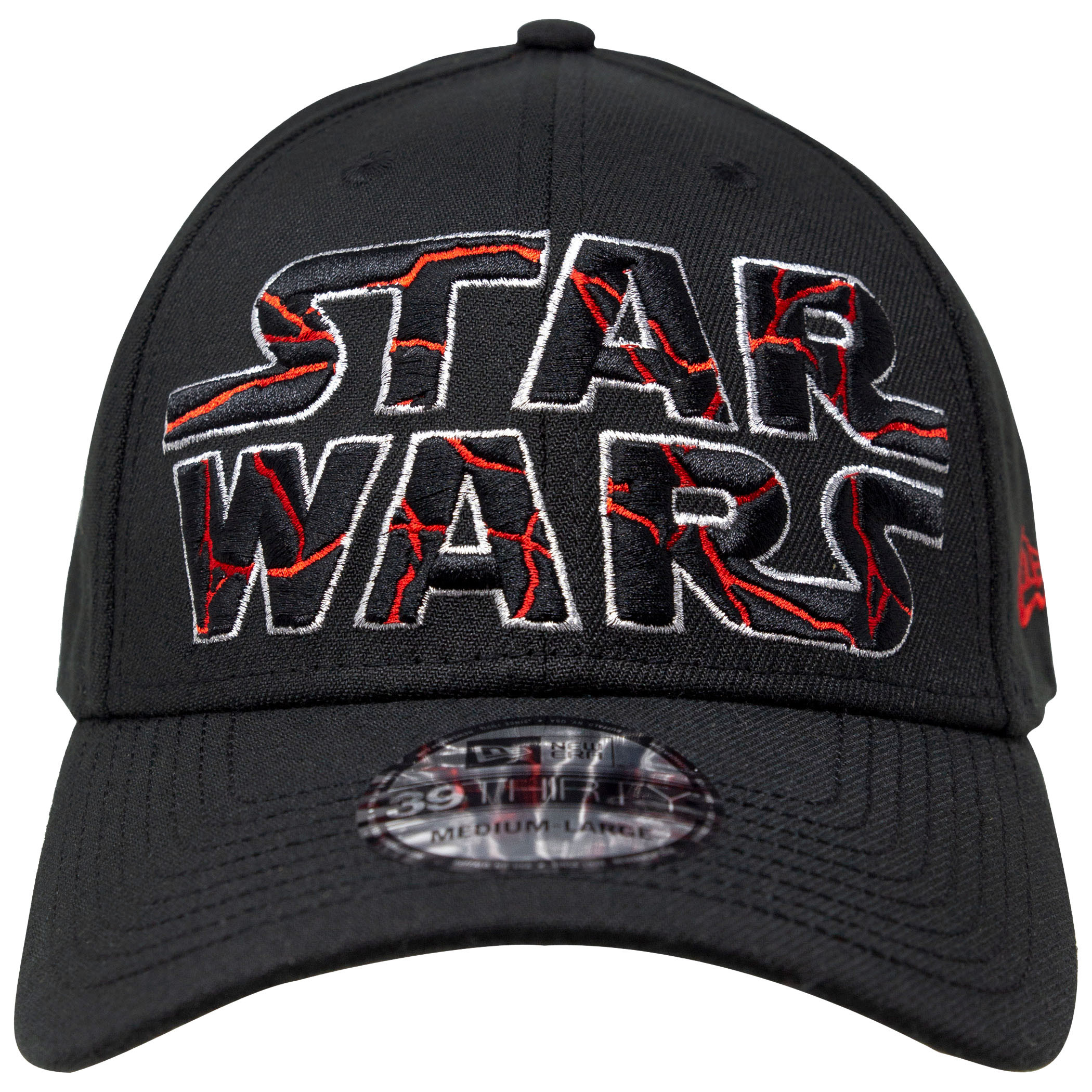 Star Wars The Rise of Skywalker Cracked Text Logo New Era 39Thirty Flex Fitted Hat