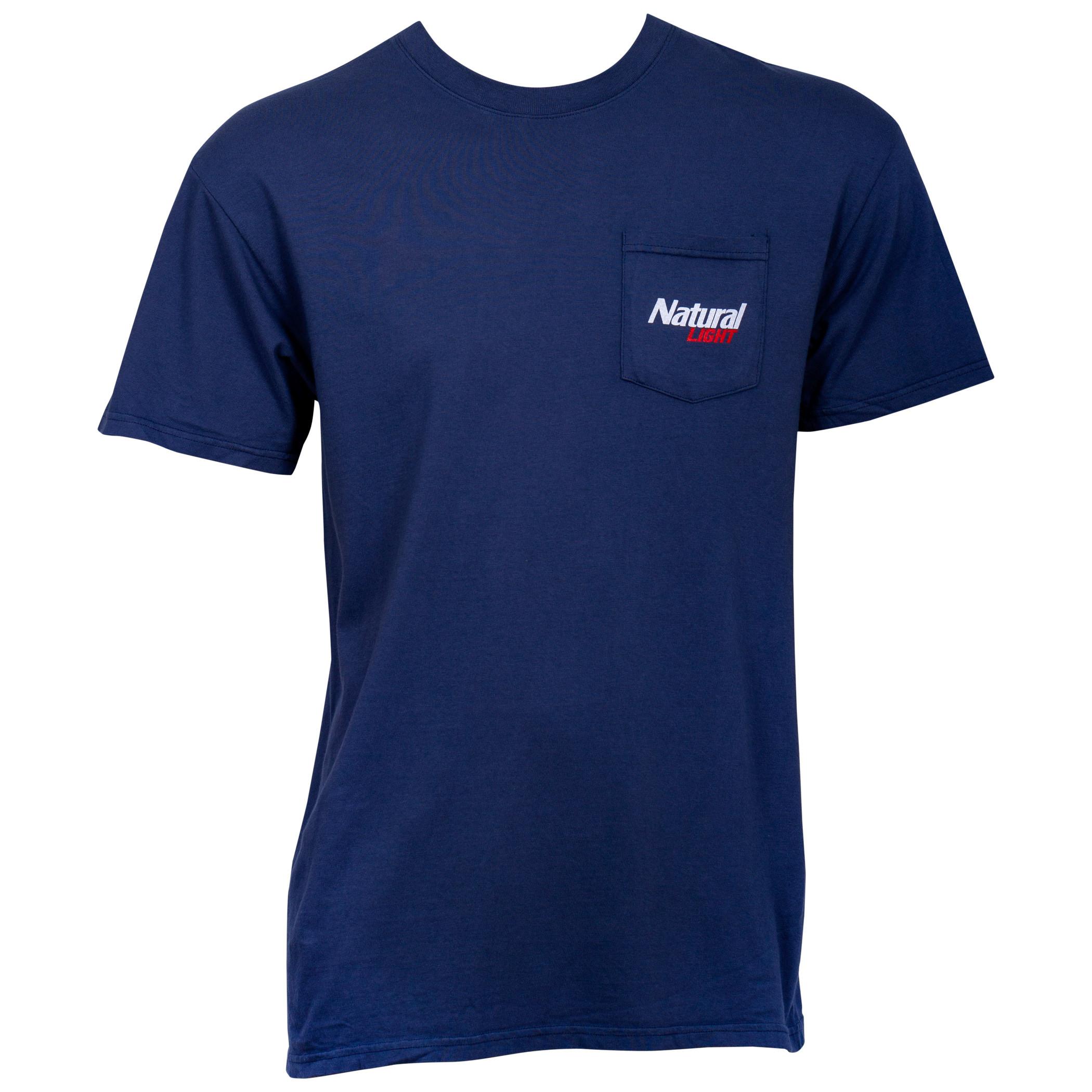 Natty Light Natural History Rowdy Gentleman Blue Men's T-Shirt