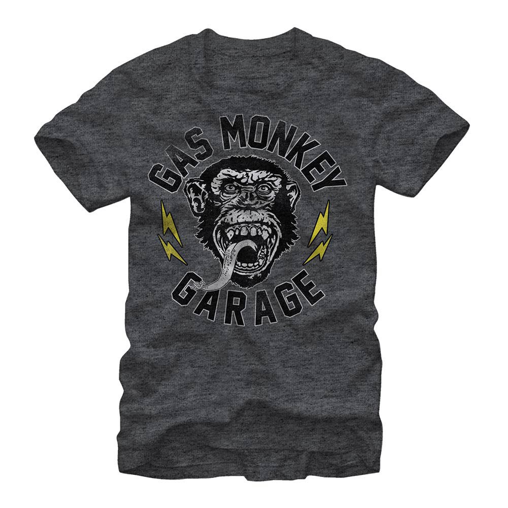 Gas Monkey Garage Valved Gray T-Shirt