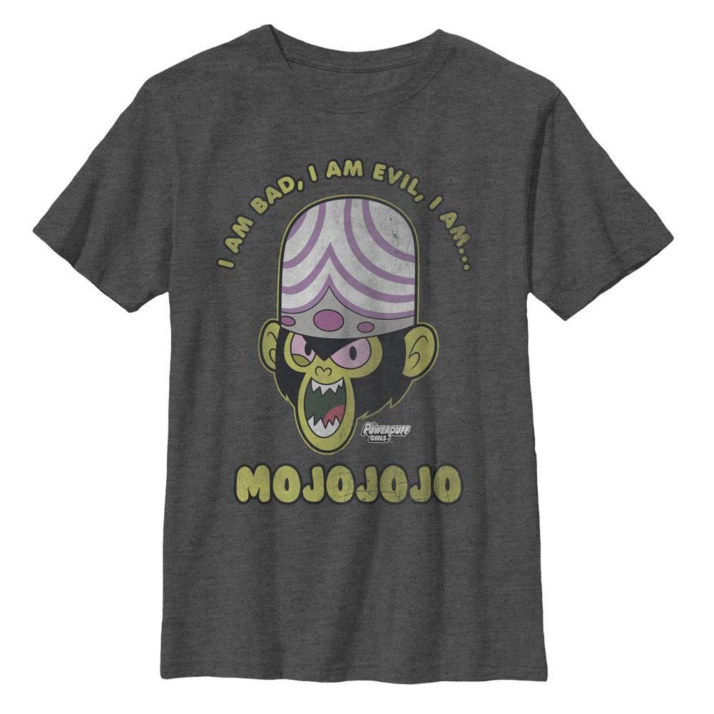 Power Puff Girls Evil Mojojojo Monkey Gray Youth T-Shirt