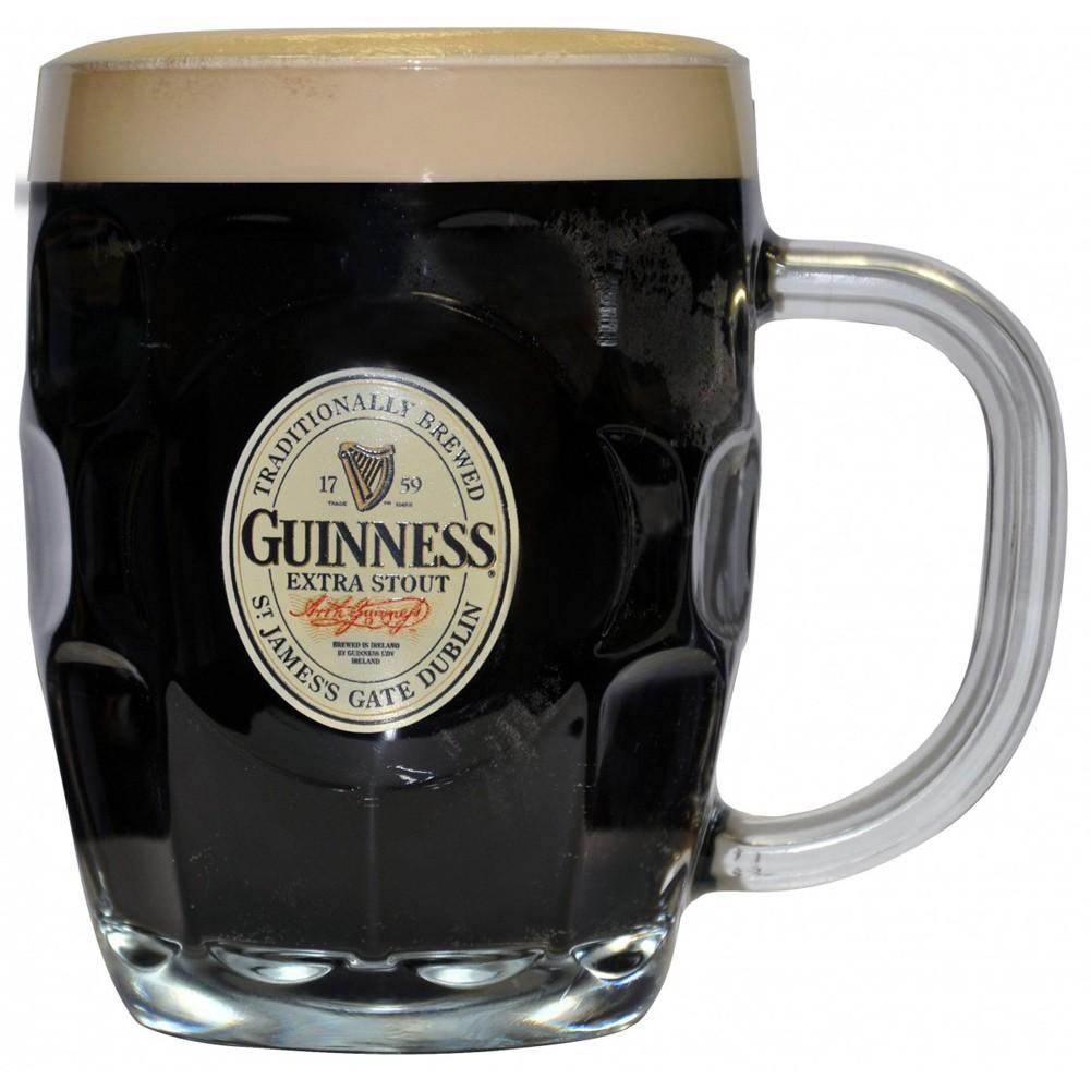 Guinness Hobnail Label Tankard Mug