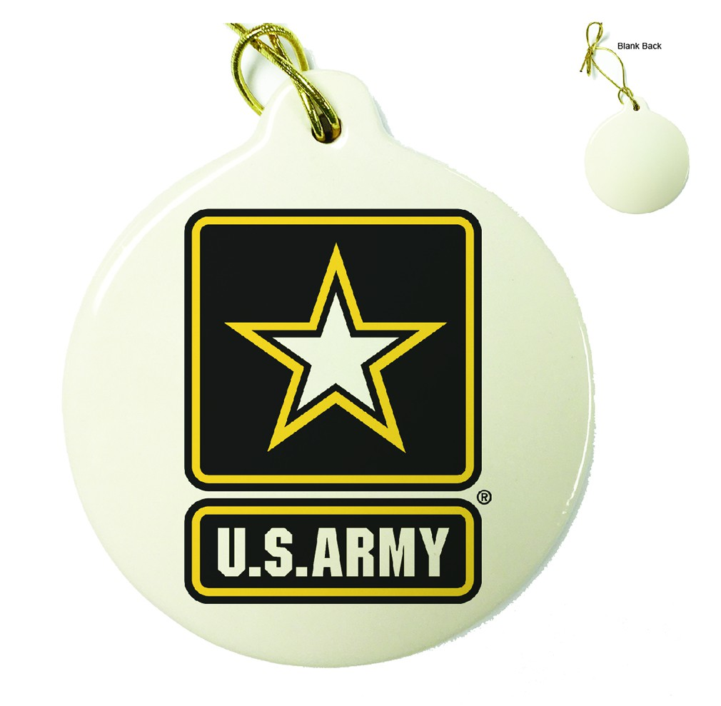 US Army Logo Porcelain Ornament