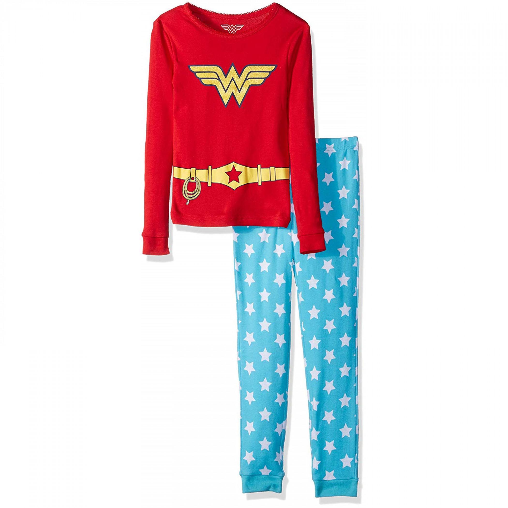 Wonder Woman Be Anything Girls 2-Piece Jogger Sleep Set