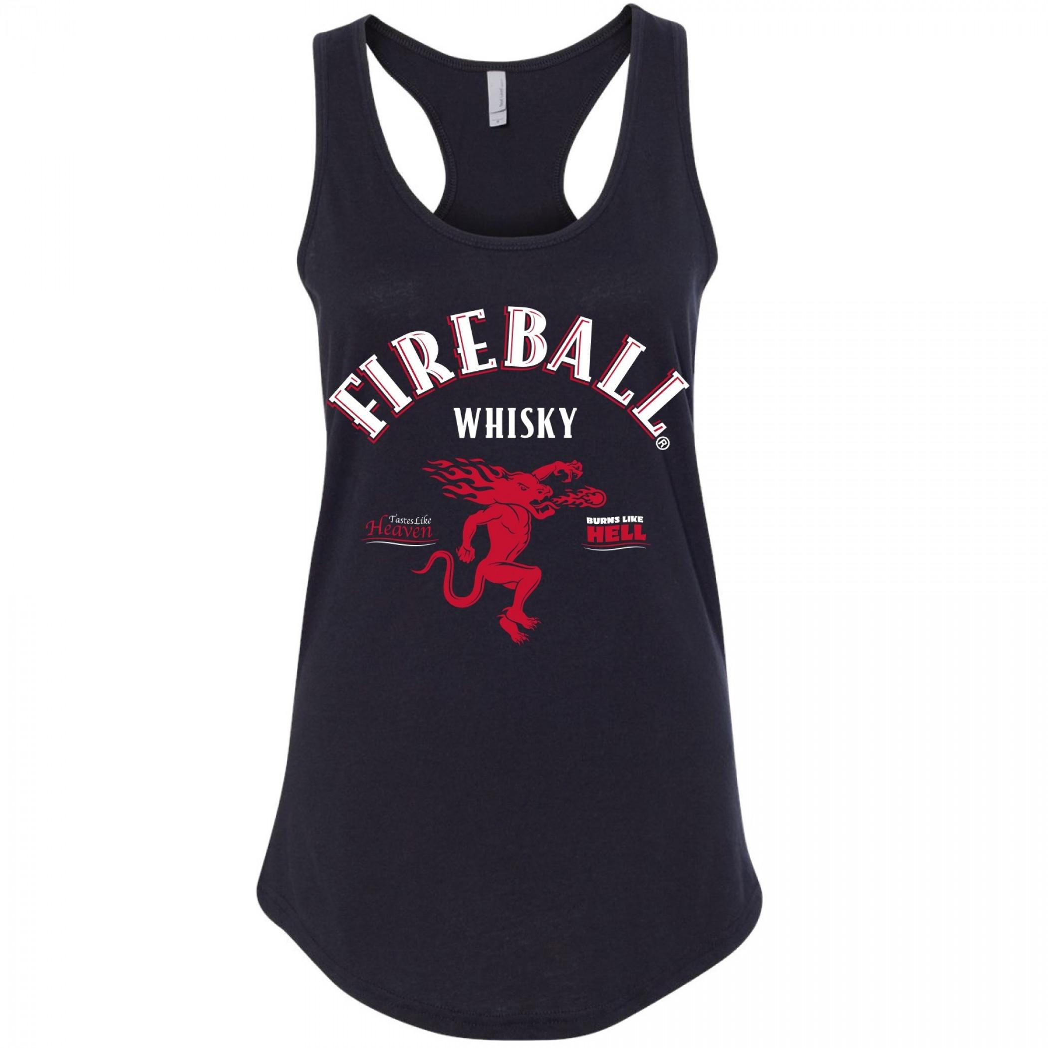 Fireball Whisky Women's Racerback Tank Top