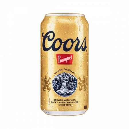 Coors Banquet Golden Colorado Beer Can Beach Towel