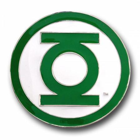 Green Lantern Belt Buckle Green Edge