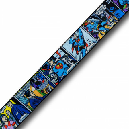 Superman Retro Comic Panels Classic Adult Web Belt