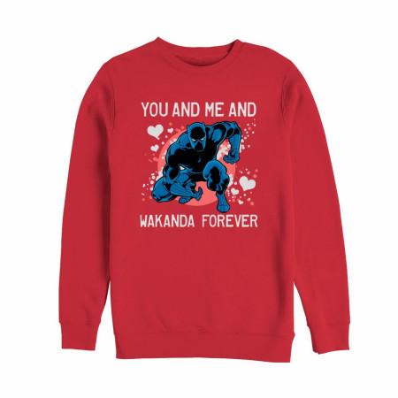 Valentine's Black Panther Wakanda Forever Men's Sweatshirt