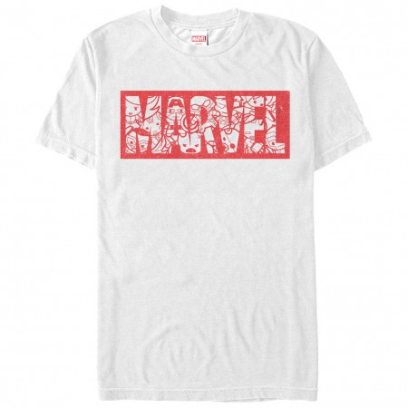 Marvel Teams Kawaii Marvel White Mens T-Shirt
