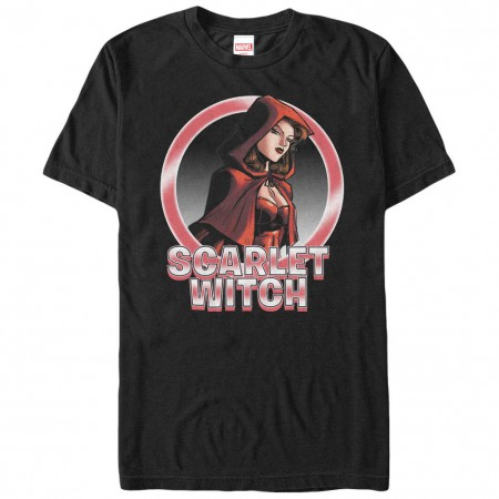Marvel Teams Scarlet Circles Black Mens T-Shirt