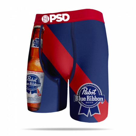 Pabst Blue Ribbon Beer Bottle Stripe Men's PSD Boxer Briefs