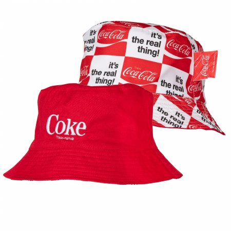 Coke Symbol It's A Real Thing Reversible Bucket Hat