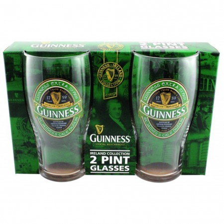 Guinness Ireland Pint Glass 2 Pack