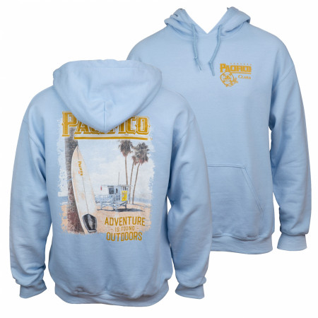 Pacifico Adventure Is Out There Beach Front and Back Print Hoodie