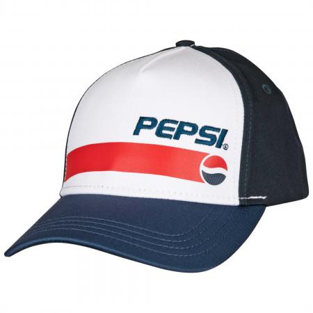 Pepsi Cola Classic Brand Adjustable Snapback Hat