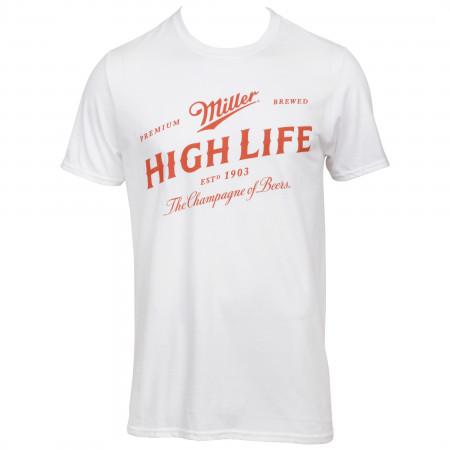 Miller High Life Brand Label T-Shirt