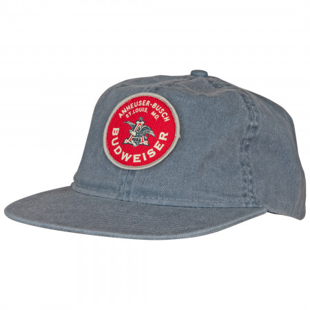 Budweiser Red and Blue Vintage Circle Patch Snapback