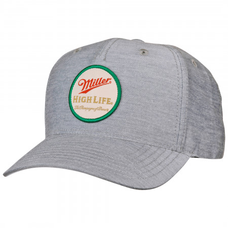 Miller High Life Beer Brand Patch Adjustable Hat