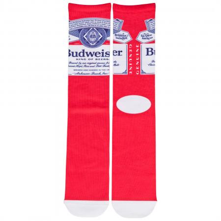 Budweiser King of Beers Genuine Logo Crew Socks