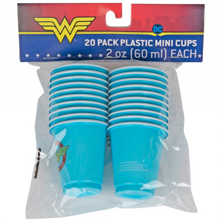 Wonder Woman Stars Logo 20oz Party Cups 20 Pack